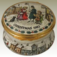 Halcyon Days The Carol Singers Christmas 1982 Enamel Box