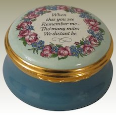 Halcyon Days When This You See Remember Me Enamel Box