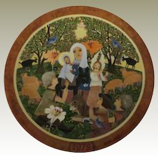 The Adoration Limited Edition Collector Plate by Hedi Keller of Konigszelt Bavaria