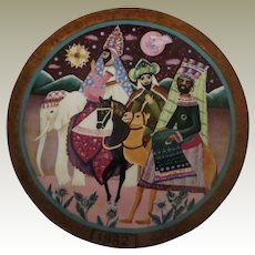 Following the Star Limited Edition Collector Plate by Hedi Keller of Konigszelt Bavaria