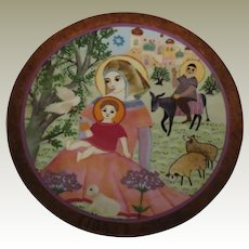Rest on the Flight Limited Edition Collector Plate by Hedi Keller of Konigszelt Bavaria