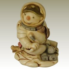 Harmony Kingdom Blue Moon Timed Holiday Edition Box Figurine Version One Snowman and Spaceship
