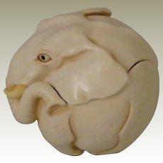 Harmony Kingdom Roly Polys Box Figurine of an Elephant Named Louis