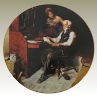 Norman Rockwell Love Letters Limited Edition Collector Plate from Edwin Knowles China Company