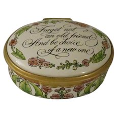 Halcyon Days Forget Not An Old Friend Enamel Box Designed by Tiffany & Co