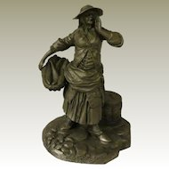 The Fishwoman from Franklin Mint Street Seller of Old London Town Collection