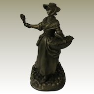 The Lavender Girl from Franklin Mint Street Seller of Old London Town Collection