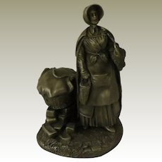 The Strawberry Girl from Franklin Mint Street Seller of Old London Town Collection