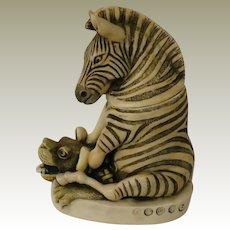 Harmony Kingdom Treasure Jest Driver's Seat Box Figurine with Zebra