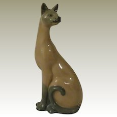 Franklin Mint Valencia Cat From the Curio Cabinet Cat Collection