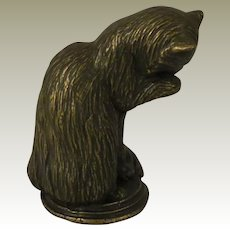 Franklin Mint Animalier Cat from the Curio Cabinet Cat Collection