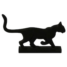 Franklin Mint Bootscraper Cat from the Curio Cabinet Cat Collection