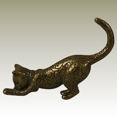 Franklin Mint Asian Cat from the Curio Cabinet Cat Collection