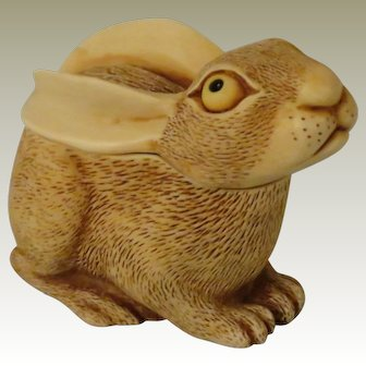 Early Harmony Kingdom All Ears Treasure Jest Box Figurine of a Rabbit