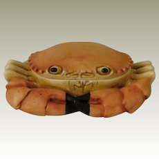 Early Harmony Kingdom Side Steppin' Treasure Jest Box Figurine of a Crab