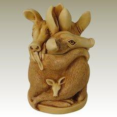 Harmony Kingdom Group Therapy Treasure Jest Box Figurine with Aardvarks
