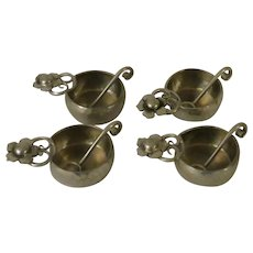 Serge Nekrassoff Hand Hammered Pewter Salts with Spoons