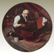 Norman Rockwell Grandpa's Gift Limited Edition Collector Plate from Edwin Knowles China Company