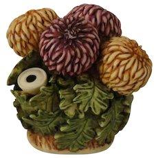 Harmony Kingdom Lord Byron's Harmony Garden Chrysanthemum Treasure Jest Box Figurine