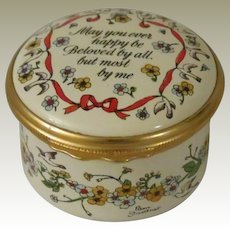 Halcyon Days  May You Ever Happy Be 1983 St Valentine's Day Enamel Box