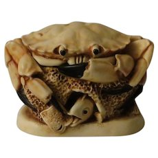 Harmony Kingdom Brean Sands Treasure Jest Box Figurine with a Crab