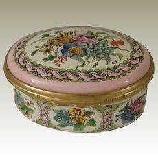 Halcyon Days Pink Floral Enamel Box