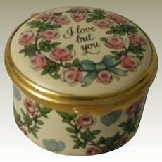 Halcyon Days I Love But You 1982 St Valentine's Day Enamel Box