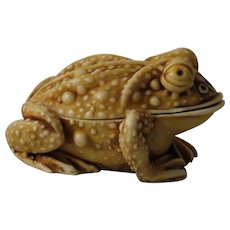 Early Harmony Kingdom Princely Thoughts Treasure Jest Box Figurine of a Toad