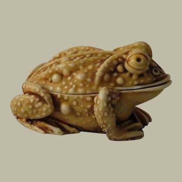Early Harmony Kingdom Princely Thoughts Treasure Jest Box Figurine of a Toad