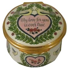 Halcyon Days My Love For You 1980 St Valentine's Day Enamel Box