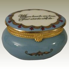 Estee Lauder Where Hearts Are True Enamel Over Porcelain Keepsake Vanity Trinket Box