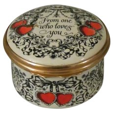Halcyon Days From One Who Loves You 1978 St Valentine's Day Enamel Box