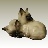 Beswick Seal Point Siamese Kittens Curled Together Figurine