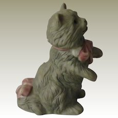 Franklin Mint Cybis Curio Cabinet Cat Figurine