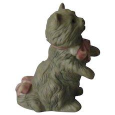 Franklin Mint Cybis Curio Cabinet Cat Figurine