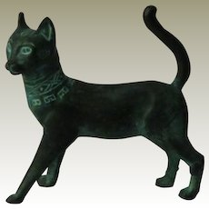 Franklin Mint Han Dynasty Curio Cabinet Cat Figurine