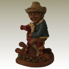 Tom Clark Banbury Gnome on Rocking Horse