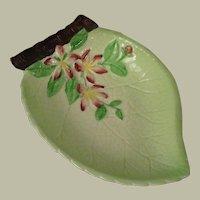 Carlton Ware Apple Blossom Leaf Dish