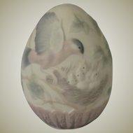 Lladro 1993 Limited Edition Porcelain Egg of Mother Bird Feeding Babies  Model 6083