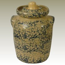 RRP CO Robinson Ransbottom Spongware Blue and Tan Covered Crock