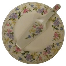 Andrea by Sadek April Porcelain Cake Plate and Server