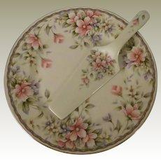 Andrea by Sadek In Full Bloom Porcelain Cake Plate and Server