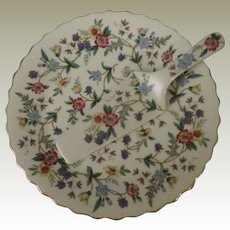 Andrea by Sadek Wildflowers Porcelain Cake Plate and Server
