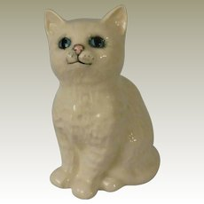 Royal Doulton White Persian Kitten from Beswick Model 1886