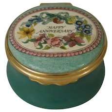 Halcyon Days Happy Anniversary Enamel Box