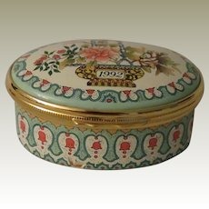 Halcyon Days 1992 A Year to Remember Enamel Box