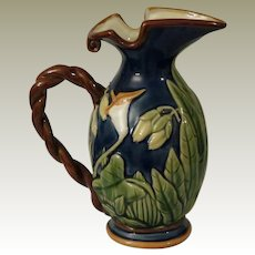 Seymour Mann Hand Painted Majolica Lily Pitcher