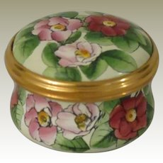 Halcyon Days Mini Enamel Floral Box with La Traviata Quote for The Metropolitan Opera