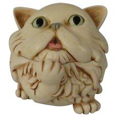 Signed Harmony Kingdom Last Cat's Meow Treasure Jest Special Edition Event Piece
