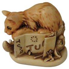 Harmony Kingdom Cannery Row Treasure Jest Box Figurine with Cats
